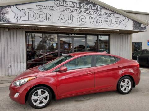 2013 Hyundai Elantra for sale at Don Auto World in Houston TX