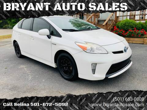 2012 Toyota Prius for sale at BRYANT AUTO SALES in Bryant AR
