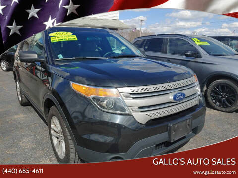 2015 Ford Explorer for sale at Gallo's Auto Sales in North Bloomfield OH