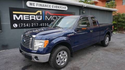 2012 Ford F-150 for sale at Meru Motors in Hollywood FL