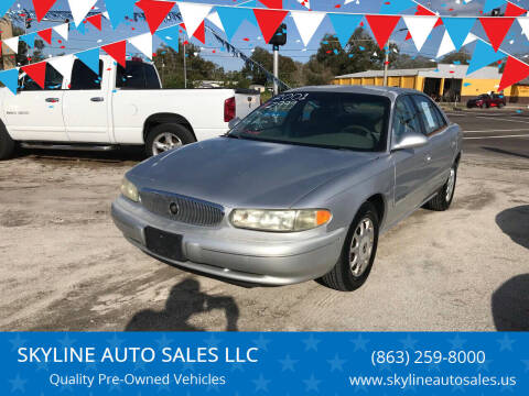2001 Buick Century for sale at SKYLINE AUTO SALES LLC in Winter Haven FL