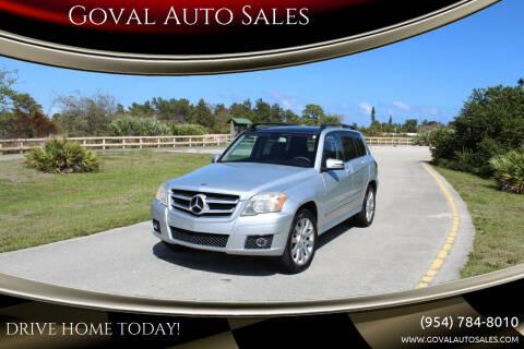 2011 Mercedes-Benz GLK for sale at Goval Auto Sales in Pompano Beach FL