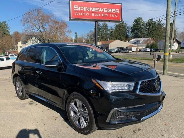 2020 Acura MDX for sale at SPINNEWEBER AUTO SALES INC in Butler PA