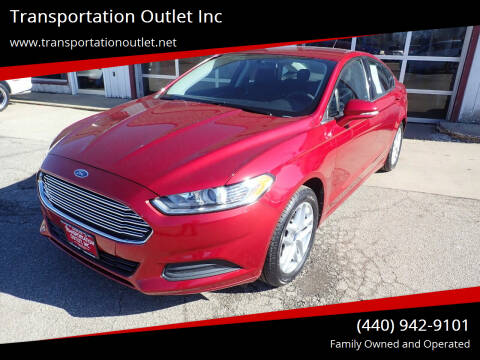 2013 Ford Fusion for sale at Transportation Outlet Inc in Eastlake OH