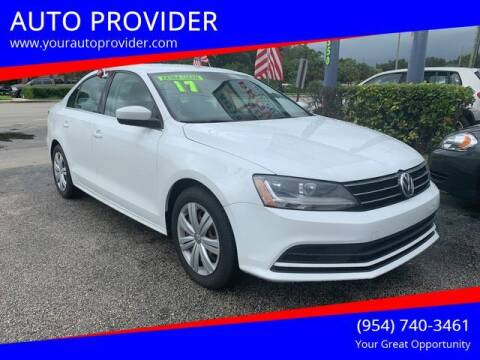 2017 Volkswagen Jetta for sale at AUTO PROVIDER in Fort Lauderdale FL