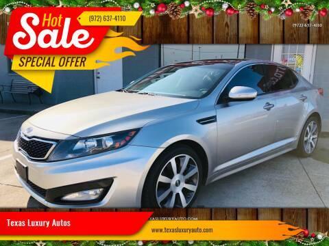 2012 Kia Optima for sale at Texas Luxury Auto in Cedar Hill TX