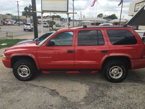 1998 Dodge Durango for sale at A ASSOCIATED VEHICLE SALES in Weatherford TX