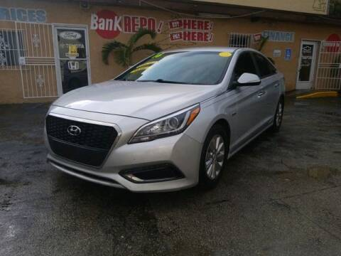 2016 Hyundai Sonata Hybrid for sale at VALDO AUTO SALES in Miami FL