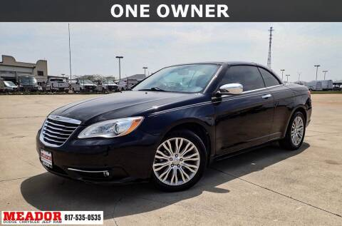 2013 Chrysler 200 Convertible for sale at Meador Dodge Chrysler Jeep RAM in Fort Worth TX