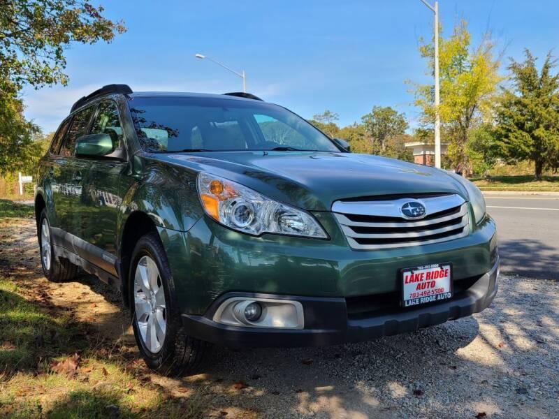 2010 Subaru Outback for sale at Lake Ridge Auto Sales in Woodbridge VA