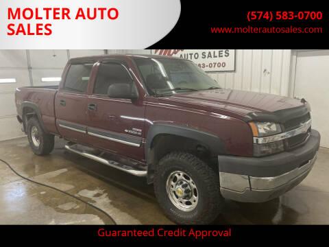 2003 Chevrolet Silverado 2500HD for sale at MOLTER AUTO SALES in Monticello IN