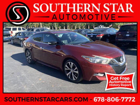 2016 Nissan Maxima for sale at Southern Star Automotive, Inc. in Duluth GA