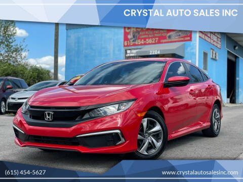 2019 Honda Civic for sale at Crystal Auto Sales Inc in Nashville TN