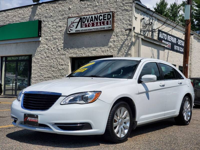 2012 Chrysler 200 for sale at Advanced Auto Sales in Tewksbury MA
