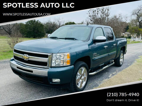 2011 Chevrolet Silverado 1500 for sale at SPOTLESS AUTO LLC in San Antonio TX