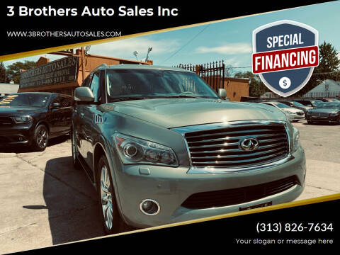 2011 Infiniti QX56 for sale at 3 Brothers Auto Sales Inc in Detroit MI