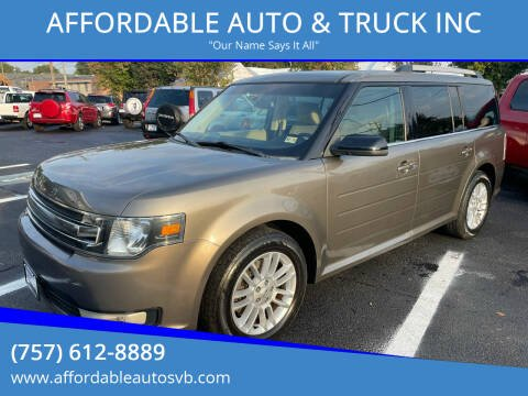 2013 Ford Flex for sale at AFFORDABLE AUTO & TRUCK INC in Virginia Beach VA