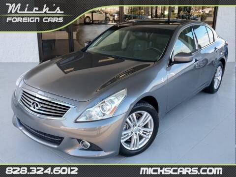 2012 Infiniti G37 Sedan for sale at Mich's Foreign Cars in Hickory NC