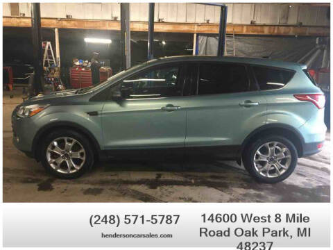 2013 Ford Escape for sale at Henderson Automotive, LLC in Oak Park MI