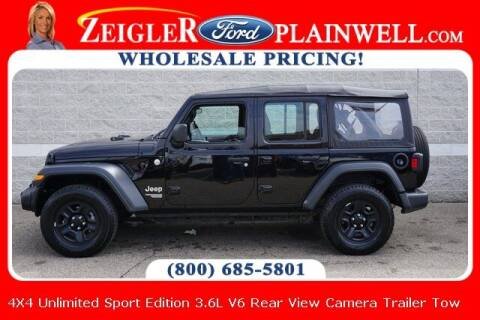 2018 Jeep Wrangler Unlimited for sale at Zeigler Ford of Plainwell- Jeff Bishop in Plainwell MI