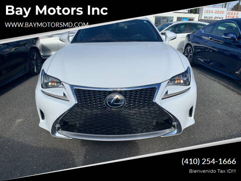 2016 Lexus RC 350 for sale at Bay Motors Inc in Baltimore MD