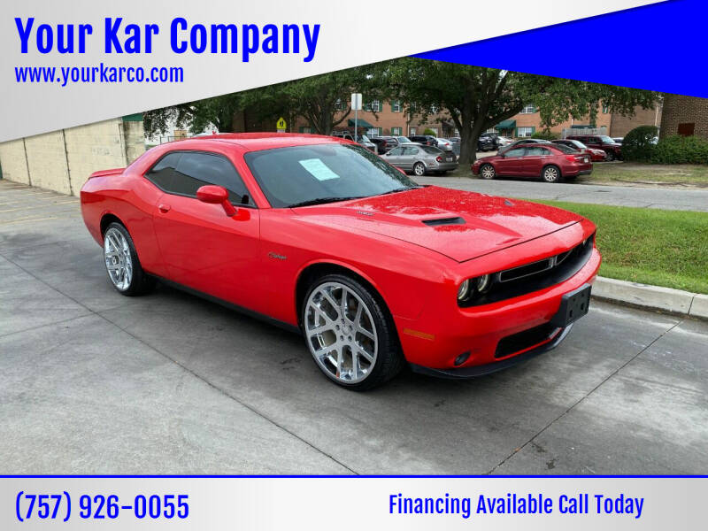 2016 Dodge Challenger for sale at Your Kar Company in Norfolk VA