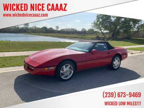 1989 Chevrolet Corvette for sale at WICKED NICE CAAAZ in Cape Coral FL