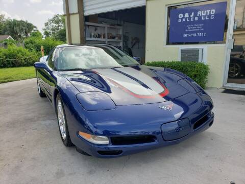 2004 Chevrolet Corvette for sale at O & J Auto Sales in Royal Palm Beach FL