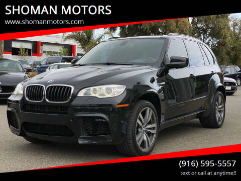 2013 BMW X5 M for sale at SHOMAN MOTORS in Davis CA