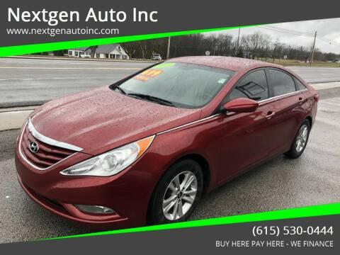 2013 Hyundai Sonata for sale at Nextgen Auto Inc in Smithville TN