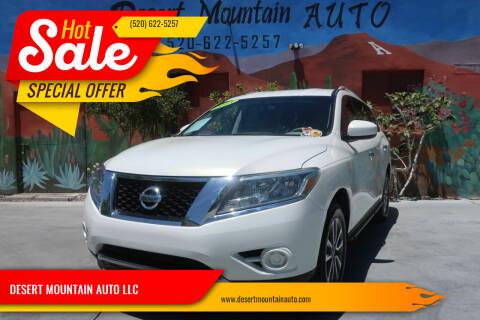 2013 Nissan Pathfinder for sale at DESERT MOUNTAIN AUTO LLC in Tucson AZ