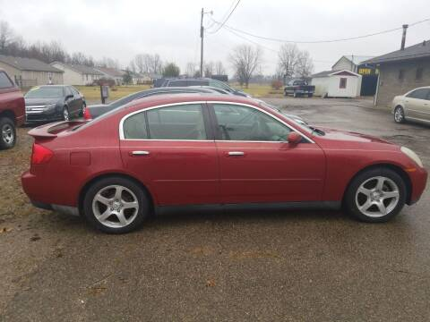 2003 Infiniti G35 for sale at David Shiveley in Mount Orab OH