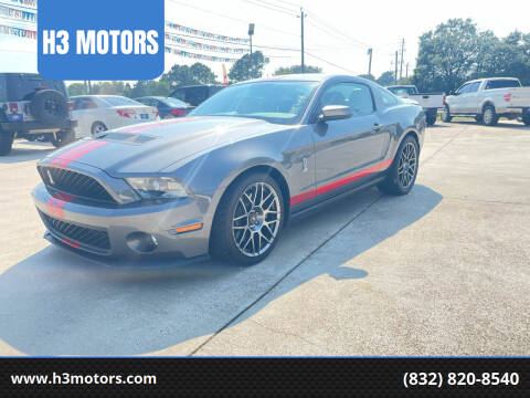2011 Ford Shelby GT500 for sale at H3 MOTORS in Dickinson TX