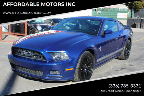 2014 Ford Mustang for sale at AFFORDABLE MOTORS INC in Winston Salem NC