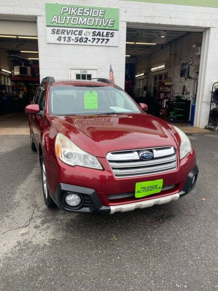 2013 Subaru Outback for sale at Pikeside Automotive in Westfield MA