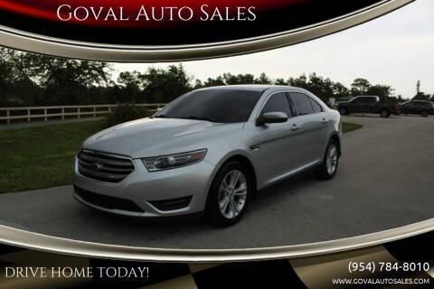 2017 Ford Taurus for sale at Goval Auto Sales in Pompano Beach FL