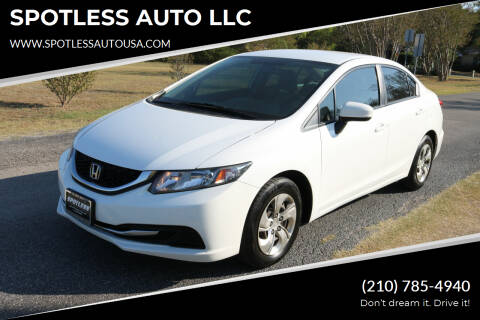 2015 Honda Civic for sale at SPOTLESS AUTO LLC in San Antonio TX