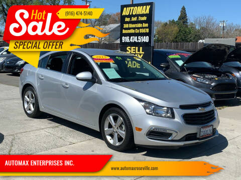2015 Chevrolet Cruze for sale at AUTOMAX ENTERPRISES INC. in Roseville CA