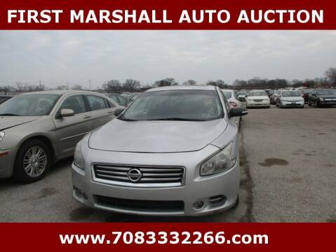 2012 Nissan Maxima for sale at First Marshall Auto Auction in Harvey IL