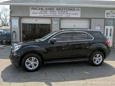 2017 Chevrolet Equinox for sale at Richland Motors in Cleveland OH