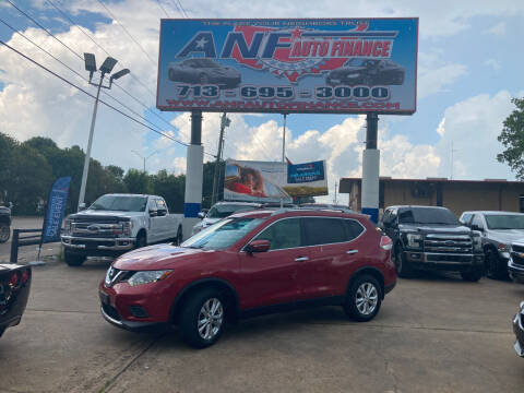 2014 Nissan Rogue for sale at ANF AUTO FINANCE in Houston TX