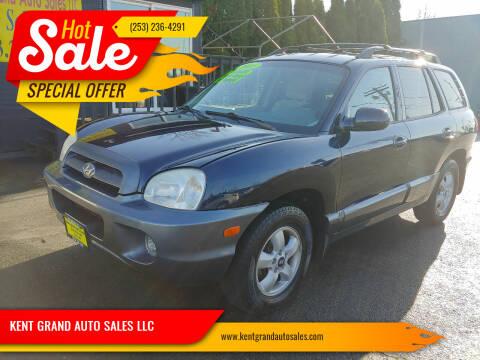 2005 Hyundai Santa Fe for sale at KENT GRAND AUTO SALES LLC in Kent WA