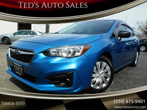 2017 Subaru Impreza for sale at Ted's Auto Sales in Louisville OH