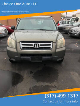 2007 Honda Pilot for sale at Choice One Auto LLC in Beech Grove IN