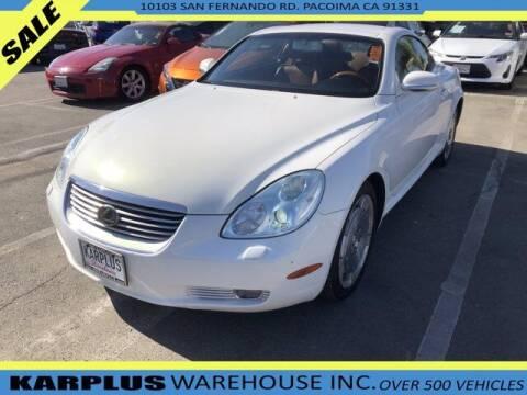 2003 Lexus SC 430 for sale at Karplus Warehouse in Pacoima CA