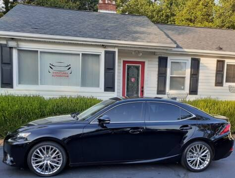 2014 Lexus IS 250 for sale at SIGNATURES AUTOMOTIVE GROUP LLC in Spartanburg SC