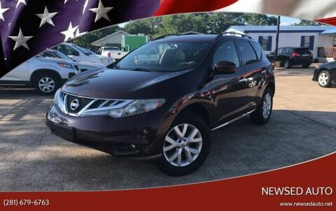 2013 Nissan Murano for sale at Newsed Auto in Houston TX