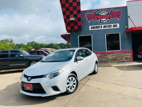 2015 Toyota Corolla for sale at Chema's Autos & Tires in Tyler TX