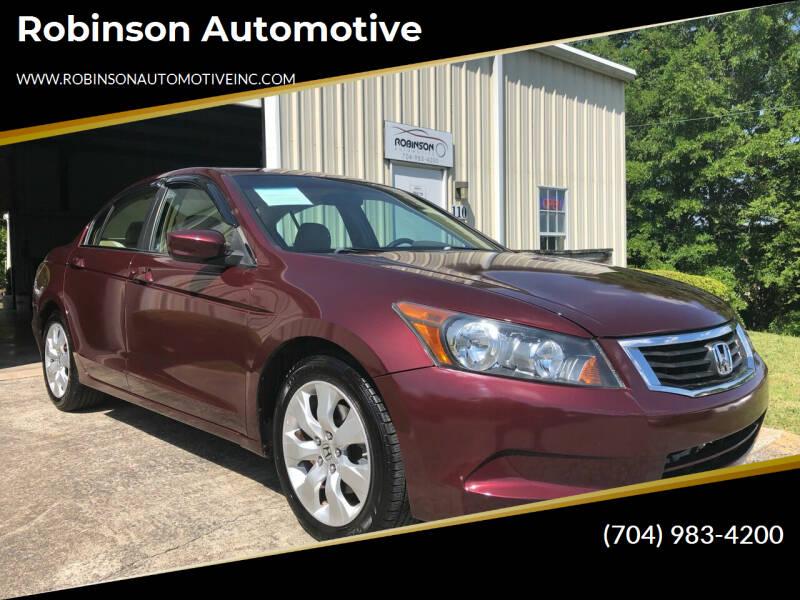 2009 Honda Accord for sale at Robinson Automotive in Albemarle NC