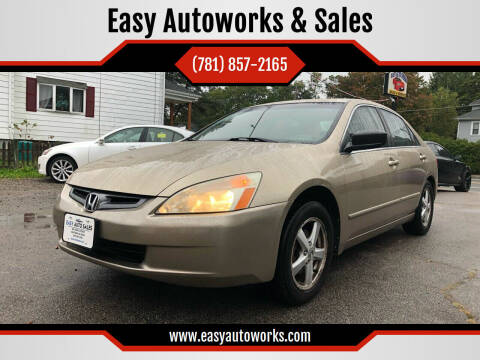 2004 Honda Accord for sale at Easy Autoworks & Sales in Whitman MA